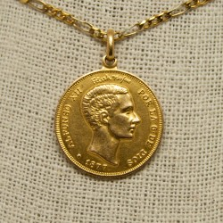 Moneda Alfonso XII, 1877, 18K