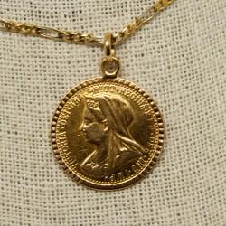Moneda Reina Victoria,...