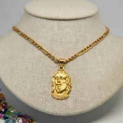 4260f6f7964e Medalla cristo, con cadena tipo cartier