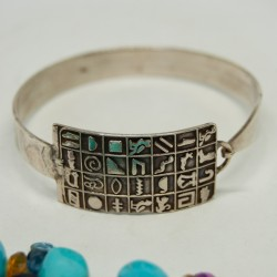 Pulsera jeroglíficos, de plata