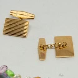 Gemelos de oro de 18K