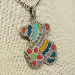 Colgante oso con mosaicos...