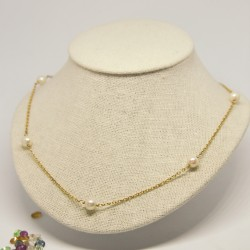 Collar de perlas con doble...