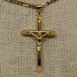 Colgante cruz, de oro de 18K
