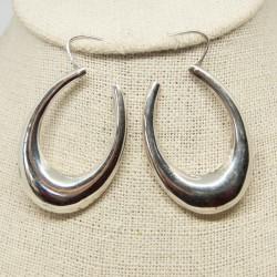 Argollas de plata ovaladas