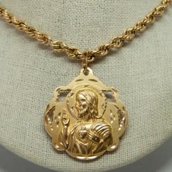 Medalla 18K Virgen Carmen y...