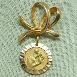 """Alfiler con medalla """"Cariño..."""