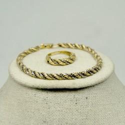 Conjunto pulsera y anillo...