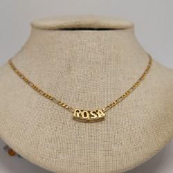 Colgante nombre 'Rosa', oro...