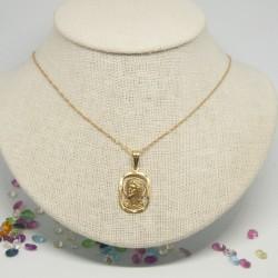 Medalla Cristo con cordón