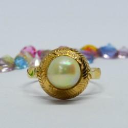 Anillo de oro 18k con perla