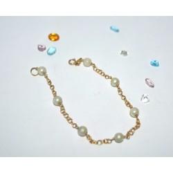 Pulsera Oro 18k Con Perlas