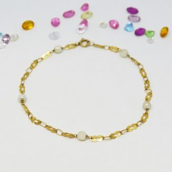Pulsera con perlas, oro 18K