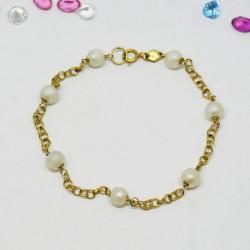 Pulsera con perlas Oro 18k