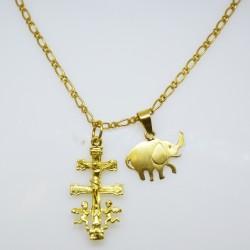 Cadena con elefante y Cruz...
