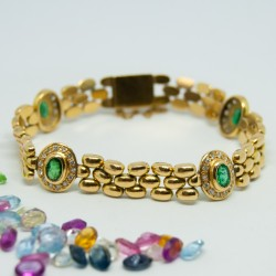 Pulsera tipo Panther, con...