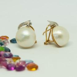 Pendientes con perla...